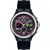 ferrari 0830015 men's lap time chronograph black silicone watch